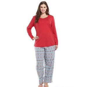 Jockey Other - New Jockey Knit Top & Microfleece Pants Pajama Set