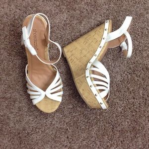 👠👠White Wedge Sandals 👠👠👠