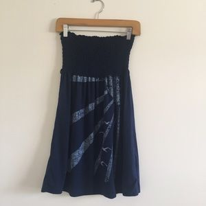 Navy swimsuit cover up