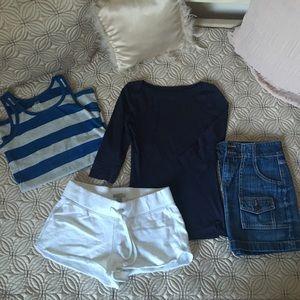 Final Sale! Old Navy White Shorts & 2 Tops Bundle