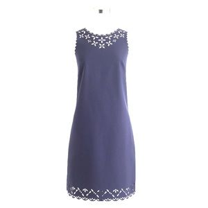 JCrew Laser Cut Floral Dress - Navy