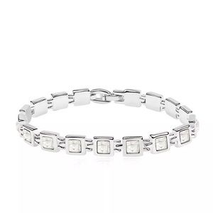 White Topaz Swarovski 18K White Gold  Bracelet