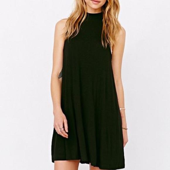 Topshop Dresses Sale Mock Neck Black Swing Dress Poshmark