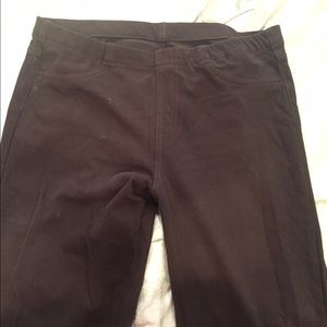 UNIQLO dark brown jegging pants sz L