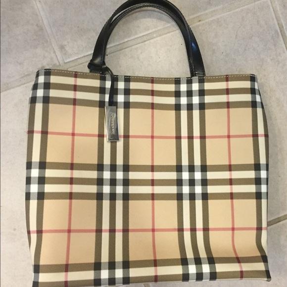 b05ba942ee Burberry Handbags - Small Burberry Nova Check Tote Bag