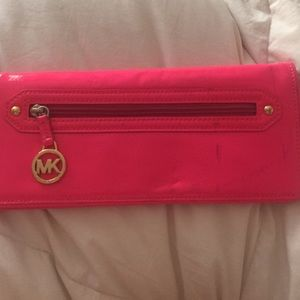 Patent leather Michael Kors clutch