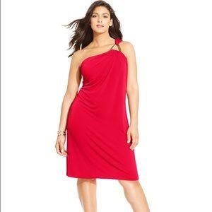 Michael Kors Dresses & Skirts - Michael Kors Plus Size One-Shoulder Sheath Dress