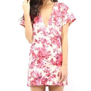 Southern Girl Fashion Dresses & Skirts - SHIFT DRESS Floral Printed Plunging Cocktail Mini