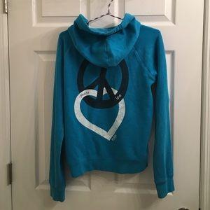 PINK teal hoodie