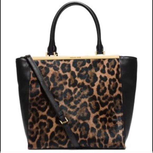 07dd8699cf2b Michael Kors Bags | Mk Lana Leopardprint Hair Calf And Leather Tote ...