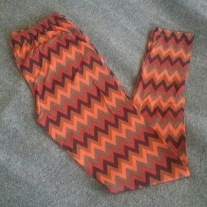 Pants - Chevron Printed Stretch Leggings