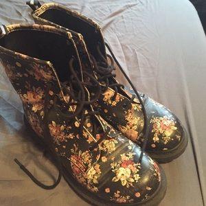 Shoes - Floral Combat Boots