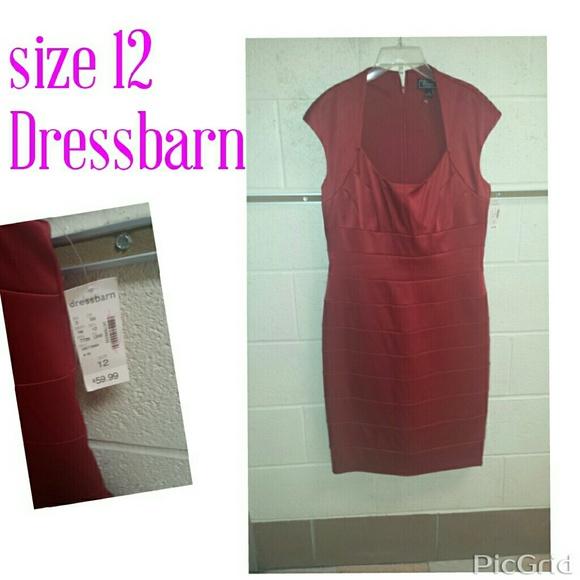 Red dress dressbarn size