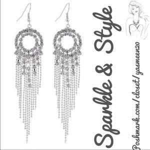 Jewelry - ✨💖White rhinestone earrings 💖✨