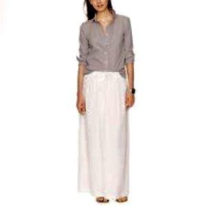J. Crew Maxi Linen Skirt