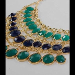 Bellaposh Jewelry - Gold Turquoise Statement Necklace