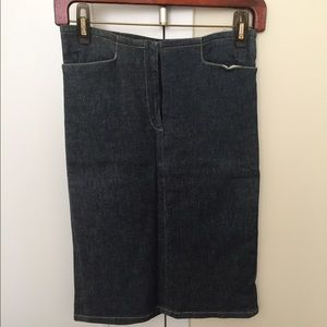 French connection denim skirt, 0