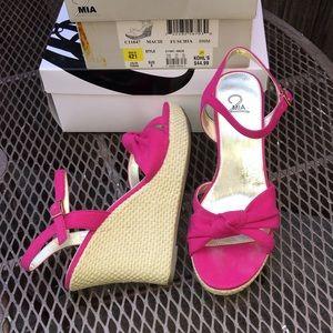 e6efd645eeb Kohl s Shoes - Fuchsia jute wedge sandals