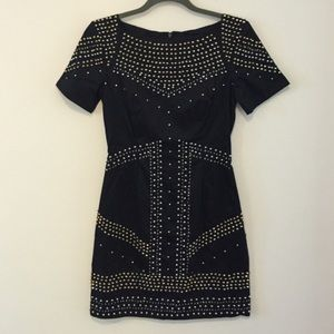 French Connection Black Beaded Dress - Size 0