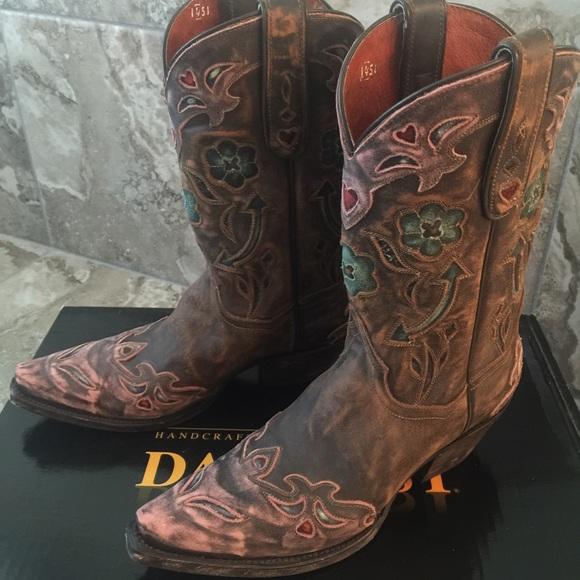 d8e455701eb Dan Post Vintage Pink Arrow Cowboy Boots size 8