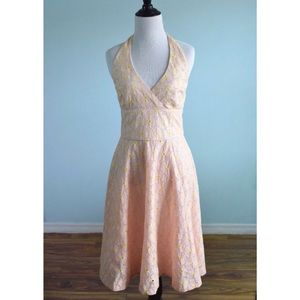 ☀️SALE☀️ Lilly Pulitzer Floral Eyelet Halter Dress
