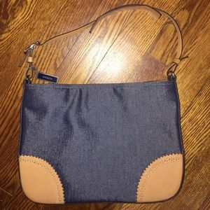 Coach denim/leather shoulder bag