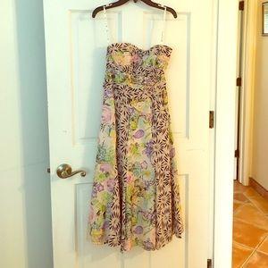 """Summery strapless dress """"Nanette Lepore"""""""