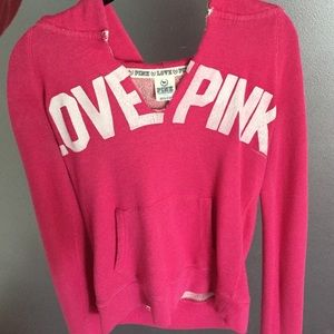 VS pink sweatshirt