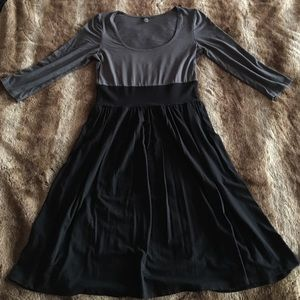 Only Hearts Black & Gray Color Block Dress