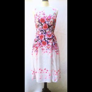 New Eshakti Floral Crepe Midi Dress M 10