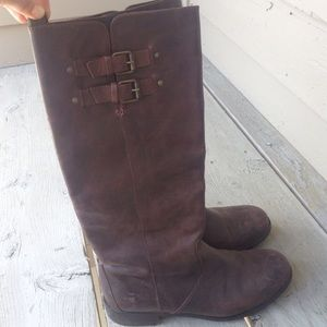 J.Crew Tall Brown Leather Boots Size 9