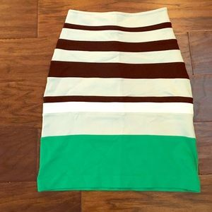Express fitted bandage skirt size 00