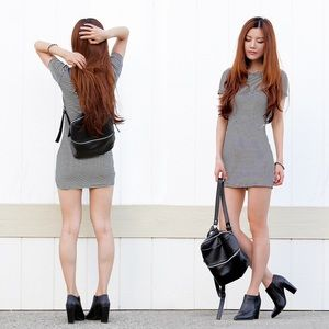 ⭐️NWT⭐️Brandy Melville 'Janelle' dress in B&W!