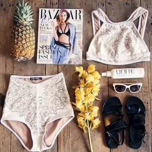 For Love & Lemons pear blossom high waist panty
