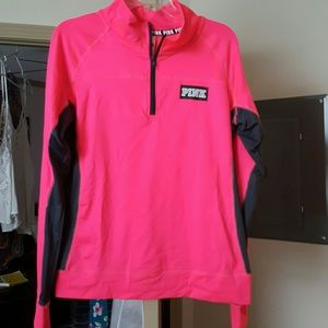 PINK Victoria's Secret Tops - Victoria's Secret Pink ultimate half zip hoodie
