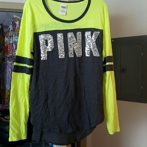 PINK Victoria's Secret Tops - Victoria's Secret Pink scoop neck sequin tee