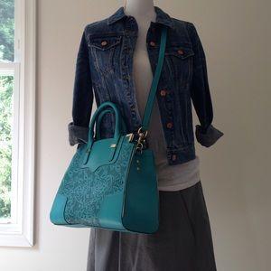 Rebecca Minkoff Lasercut Turquoise Bag Satchel