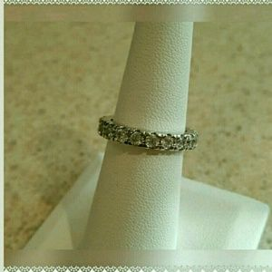 Jewelry - New Sterling Silver Eternity Band Size 3 In Size10
