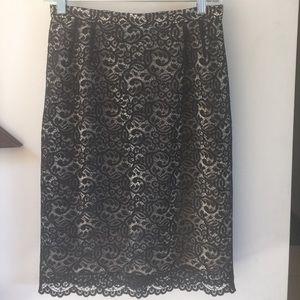 Emanuel Ungaro Dresses & Skirts - Emanuel black lace pencil skirt