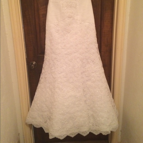 42 off oleg cassini dresses skirts wedding dress from for Wedding dress cleaned and boxed