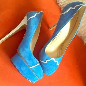 Charlotte Olympia Shoes - Charlotte Olympia blue heels