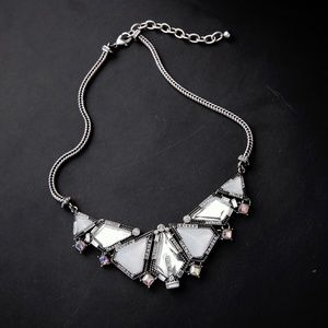 Triangle Pendant Statement Necklace
