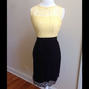 Milly of New York Dresses & Skirts - Milly of New York Yellow and Black Lace Dress