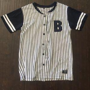 Basebal jersey, navy blue