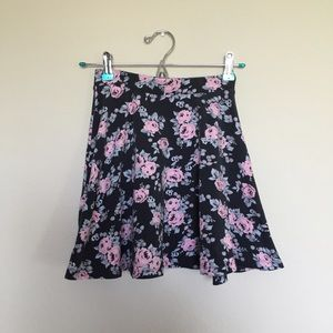 Faded black and pink skater skirt