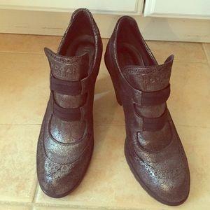 Hogan Shoes - Hogan Military Silver Black Heels