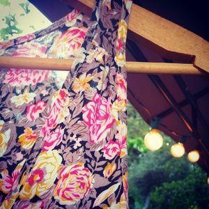 Short Pink Floral Sundress