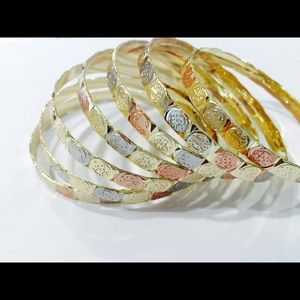 Jewelry - 14K Gold Plated 'San Benito' Semanario set