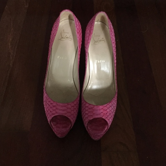 Asos Peep Toes Pink Shoes