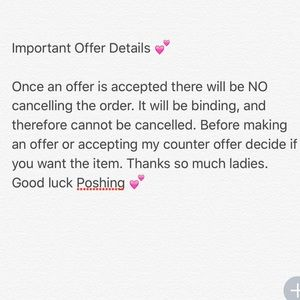 Make an Offer Policy 💕